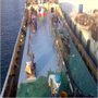 Rust Grip application on sea-going vessel